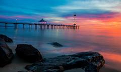 Brighton Jetty (Nathan Godwin) Tags: ocean longexposure sunset sea seascape landscape rocks brighton jetty sony sunsets southaustralia landscapephotography sunsetporn sunsetphotography sonyphotographer sunsetseascape visitsa sonya77 southaustralianbeaches