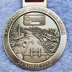 3hrs 50 later!! (17/52) (robjvale) Tags: london sport marathon running medal experience crowds londonmarathon pleased iphone oneinamillion