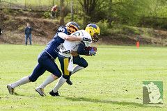 "GFL2 Hildesheim Invaders vs. Assindia Cardinals (Testspiel) 24.04.2015 022.jpg • <a style=""font-size:0.8em;"" href=""http://www.flickr.com/photos/64442770@N03/26581248732/"" target=""_blank"">View on Flickr</a>"