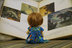 Earth (AluminumDryad) Tags: book doll earth fantasia bjd resin fairyland dinosaurs ante balljointeddoll photochallenge adad ltf tinybjd littlefee adolladay april2016