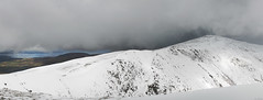 Wintry Carneddau 06 (Ice Globe) Tags: winter panorama white mountain snow mountains cold nature wales pen 35mm landscape frozen nikon view snowy scenic ole panoramic views wen snowing icy snowdonia yr wintry dafydd anglesey carneddau carnedd landsacpes d5100