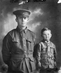 Studio portrait of Australian Private Walter Henry Chibnall, 10th Light Trench Mortar Battery and his son William Beresford (Billy) Chibnall in 1916. Walter was killed in action at Passchendaele, 1917. His son would enlist during WWII and die in Japanese (Histolines) Tags: light walter portrait history private studio japanese during was die action wwii australian battery son william x retro trench henry mortar his timeline billy killed 10th 1942 would captivity 1917 beresford 1916 enlist vinatage passchendaele 2459 2953 historyporn chibnall histolines httpifttt1qxosnd