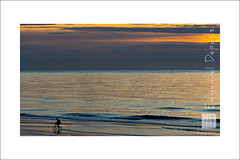 alone riding on the sea (Emmanuel DEPARIS) Tags: sunset sea mer beach de soleil nikon north coucher du cote dunkerque emmanuel nord bycicle d4 byciclette dopale deparis