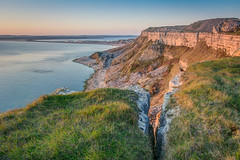 ''Another Crack Widens'' (marcbryans) Tags: sunset sea cliff seascape west rock stone portland landscape coast outdoor canyon falls cliffs formation ridge dorset mountainside crags jurassic bluff crag tokina1116mm nikond7100