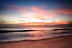 woodgate sunrise (ngairenaran) Tags: longexposure morning colour beach sunrise surf australia queensland woodgate woodgatebeach