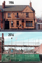 RIFLE BUTTS  Nottingham Rd  Leicester  1984-2016 (chrisdpyrah) Tags: lost leicester demolition 1984 pubs thenandnow lbm 2016 ansells nottinghamrd riflebutts le5 leicesterpubs