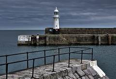 Harbour entrance at Mevagissey, Cornwall (Baz Richardson) Tags: me cornwall lighthouses you hink baz teasing harbours mevagissey