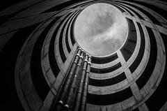 Lazarus Pit (TS446Photo) Tags: world camera city blackandwhite bw white black london monochrome architecture club clouds contrast ir spiral mono nikon day pattern fineart explore infrared dslr 1835mm explored nikon1835mm d7000