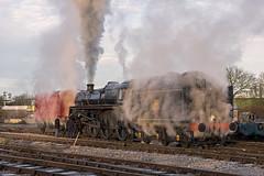 Valve Problems (4486Merlin) Tags: england europe unitedkingdom derbyshire transport steam railways midlands swanwick gbr midlandrailwaycentre 73129 heritagerailways exbr brstd5mt460 caprotticrescendo
