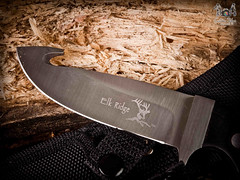 ELK_RIDGE--72 (Organización BLUEWATER) Tags: wood light cold reflection texture cooking metal closeup contrast work handle stainlesssteel iron handmade steel object hunting picture knife line sharp weapon backgrounds layer hunter blade perfection anvil linemetal