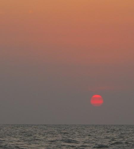 Dawn breaking on first day of 2016 from Aleenta Hua Hin, Pran Buri, Thailand