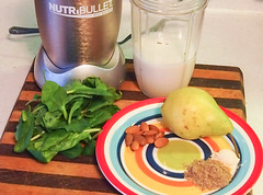 Omaca-3 Pear, Spinach, Maca Smoothie Recipe (PRIMEJuicers) Tags: water milk almond pear smoothie blast spinach maca magnesium fibromyalgia omega3 flaxseed nutriblast omaca3