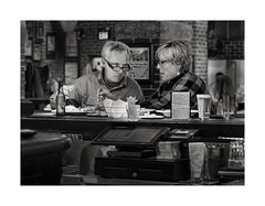 Why Are You Eating My Lunch ? (sorrellbruce) Tags: love lunch pub fuji married sweet eating couples meal sharing photoninja framefun lr64 silverefexpro fujinon35mmf14 fujixt1