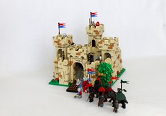 TTR3: Yellow Castle Revamp (jsnyder002) Tags: tree tower castle lego working drawbridge walls blacksmith functional figs sections stables gatehouse moc brickbuilt hinging