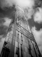 Up & Coming (faranorclarke) Tags: windows sky urban cloud reflection building tower ex glass architecture modern clouds mono design pov sigma surrey architectural 1020 vignette croydon cro saffron lightroom d7100 saffronsquare saffrontower