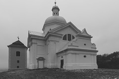 The top (modaser) Tags: urban blackandwhite bw building church monochrome fog architecture design blackwhite europe czech cathedral czechrepublic easterneurope czechoslovakia centraleurope moravia mikulov