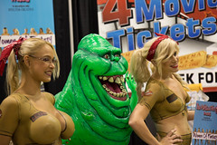 ghost busters (timp37) Tags: world ladies girls summer woman chicago illinois comic wizard ghost august con ghostbusters slimer busters 2014 conlife