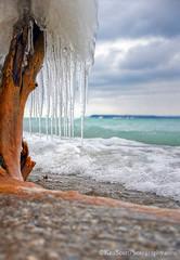 Lake Michigan ... under ice island view (Ken Scott) Tags: winter usa ice beach michigan january lakemichigan greatlakes freshwater voted leelanau 2016 manitouisland 45thparallel backpage fhdr sbdnl sleepingbeardunenationallakeshore mostbeautifulplaceinamerica