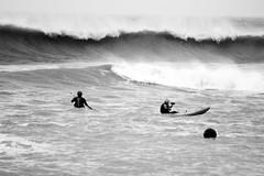 Extreme Canoeing (Magicsparkles) Tags: sea waves canoe freshwater freshwaterbay
