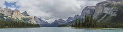 Maligne Lake Panorama (Charlie Lee.) Tags: panorama mountain canada canon nationalpark jasper alberta pacificnorthwest northamerica rockymountains jaspernationalpark malignelake mountainrange canadianrockies  600d       eos600d rebelt3i