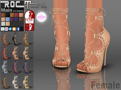 POP_ROC Gloria Heels (ROC FASHION) Tags: red woman white black hot sexy girl up leather female project nude roc back high cool shoes punk pumps toe dress jane mesh lace mary platform carve lara footwear sling heel peep tight stiletto ankle hollow dorsay rigged tmp wedges fitted maitreya slink fatpack