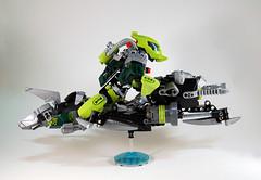 Master of Currents - Lesovikk G2 - Side (0nuku) Tags: green underwater lego air submarine master vehicle g2 glider bionicle toa 2015 faxon uniter ccbs mahrinui lesovikk karzahni ussanui