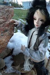 Riddick and Crow in the snow (amyangel96) Tags: snow bjd abjd dolkot dollzone dollzonemo dolkotday