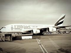 Le palace du ciel (Twenty Cent's) Tags: paris france beautiful plane design airport airbus a380 charlesdegaulle avion majesty roissy cdg modernity bestshot iphonegraphy