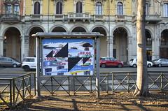 AK_Collage II (| Ak |) Tags: street abstract art geometric collage triangles paper triangle geometry glue ak billboard decollage dwg