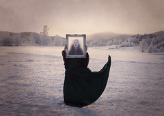 Midwinter Sadness (Maren Klemp) Tags: winter sun snow painterly ice window nature movement forrest naturallight frame mysterious nostalgic dreamy melancholy conceptual fineartphotography darkart evocative outdoorsphotography femalephotographer fineartphotographer darkartphotography symbolig