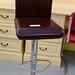 Brown and cream bar stool