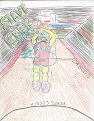 kerr for three (timp37) Tags: chicago basketball corner point three sketch illinois drawing steve bulls points kerr kerrs