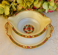 KPM Germany Porcelain Sauce Boat ~ Floral ~ Rose ~ Gold (Donna's Collectables) Tags: floral rose germany gold boat sauce porcelain ~ kpm