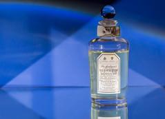 Penhaligons (Jacopo Pregnolato) Tags: blue light colour reflection photography mirror bottle cyan product parfume