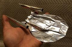 Enterprise NX-01 origami 23cm long from 48sq. (Matayado-titi) Tags: startrek origami space spaceship enterprise starship nx01 sugamata matayado shusugamata