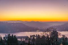DSC04819 (Orhan Kl) Tags: morning bridge trees sea sky sunrise turkey outdoor dusk colorfull istanbul bosphorus hisarst sonysel35mmf18 sonya6000