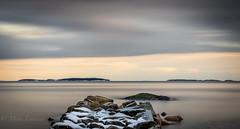Dreamscape (Mika Laitinen) Tags: ocean longexposure winter snow seascape nature suomi finland rocks horizon cost dreamscape uutela srkkniemi ef24105mmf4lisusm vuoasaari helainki canon7dmarkii uuusimaa
