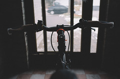 Ready to Roll! (everydayfuji) Tags: travel color bicycle 35mm cycling fuji ride go lifestyle journey fujifilm singlespeed fixie rider portra gettingready xseries x100 vsco nogears feltbicycles myfujifilm vscofilm