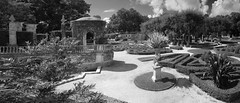 Vizcaya Garden Gazebo Panorama BW (Don Thoreby) Tags: panorama gardens stairs arch florida miami steps passages gazebo walkways walls mansion fountains archways coconutgrove biscaynebay panoramicview miamiflorida villavizcaya gardensteps renaissancearchitecture vizcayamuseumandgardens gardengazebo gardenpathways villavizcaya1914 jamesdeeringmansion