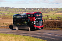 Transdev BL65 YYV 3622 3rd February 2016 (asdofdsa) Tags: travel bus coach outdoor yorkshire transport leeds passengers hills vehicle harrogate 36 uphill hillclimb otley harewood transdev newbus 65plate wrighteclipsegemini3