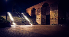 's-Hertogenbosch: city walls (Ingeborg Ruyken) Tags: city longexposure morning night stairs flickr december nacht denbosch trap stad dropbox ochtend citywall shertogenbosch 2015 stadsmuur natuurfotografie catmyhometown 500pxs parkeergaragasintjan