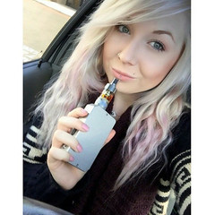 Sharon from Manchester loves to vape whilst in the car! Thank... (wupplesvape) Tags: from manchester sharon thank loves whilst vape