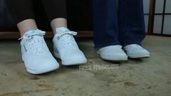 Cassandra & Tinsley Toe Tapping in Reeboks and Keds (Fanta_Productions) Tags: sneakers reeboks keds toetapping sneakerfetish princessreeboks leatherkeds