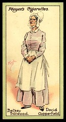 Cigarette Card - Betsey Trotwood (cigcardpix) Tags: vintage advertising ephemera dickens cigarettecards