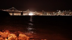 Oakland Bay Bridge (josiehall70) Tags: sanfrancisco longexposure skyline night oaklandbaybridge