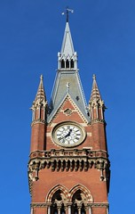 St Pancras (richardr) Tags: old uk greatbritain red england building london tower english heritage history clock architecture europe european unitedkingdom britain gothic 19thcentury victorian historic clocktower victoriana british stpancras europeanunion gilbertscott victorianarchitecture redbrick nineteenthcentury gothicarchitecture georgegilbertscott gothicrevival sirgeorgegilbertscott