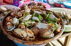 Morning haul (rachFNQ) Tags: river market fresh vietnam hoian crabs fishmarket