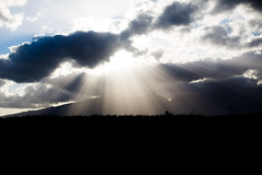 light rays (paul.wienerroither) Tags: light mountains clouds canon dark landscape island photography 50mm lights hawaii ray view maui hi rays 5dmk3