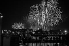 White on Black (tabulator_1) Tags: blackwhite fireworks southport southportpier