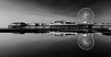 Reflections of Blackpool Central Pier (justinclayton99) Tags: uk sea england blackandwhite bw cloud reflection beach water wheel architecture mirror coast pier seaside fuji waterfront central lancashire shore fujifilm blackpool symetric centralpier xt1 fujixt1